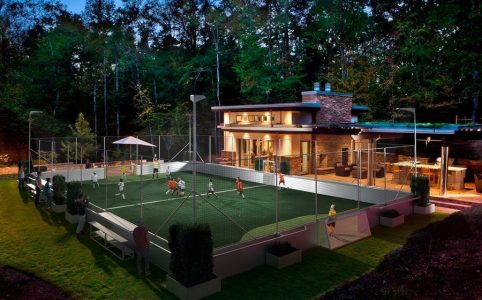how to build an indoor soccer field
